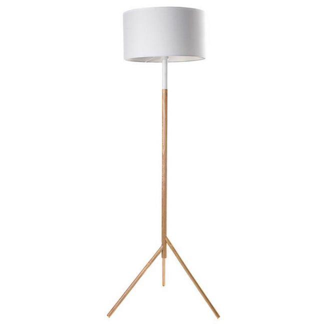 Woodi Floor Lamp | White and Oak | Modern Furniture