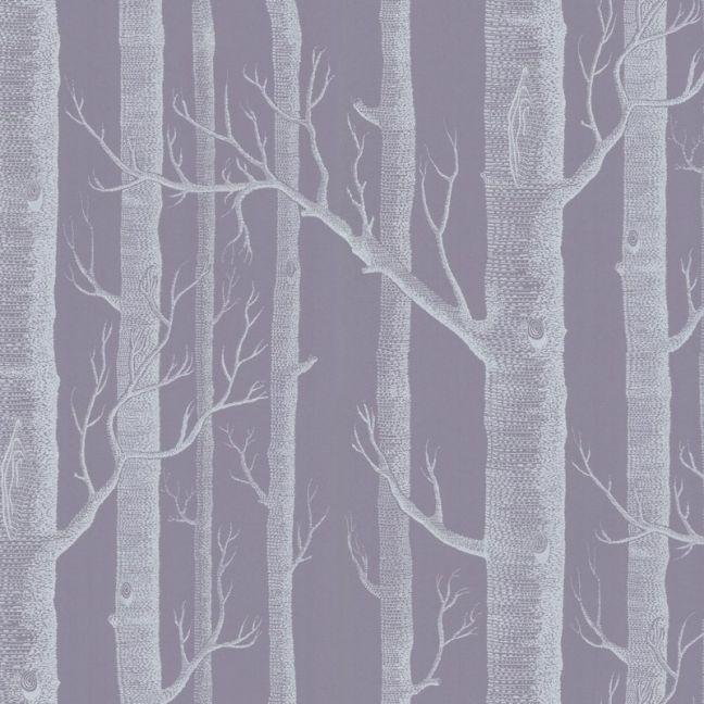Woods Wallpaper - Purple & White