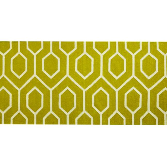Wool Runner Rug   Beehive Lime   by Canvas & Sasson