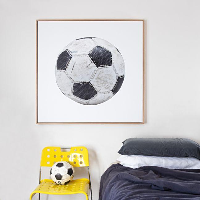 Worn Soccer Ball Canvas