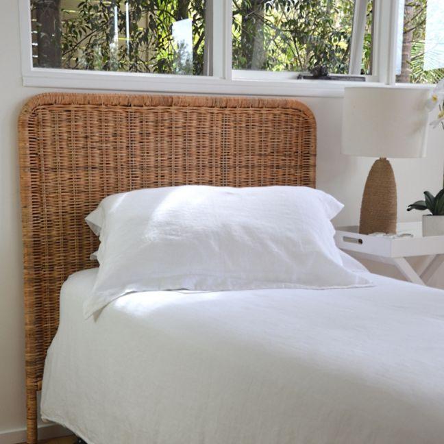 Woven Rattan Bedhead | Single or King-Single Beds
