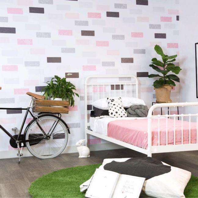 Wreck It Wall Pink Wallpaper