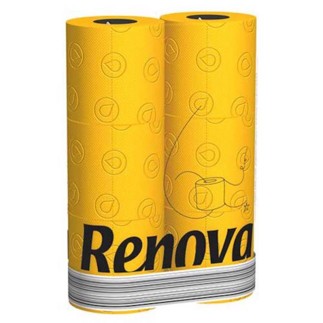 Yellow Toilet Paper | 3 Ply | 6 Roll Pack