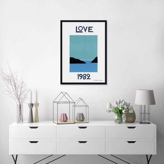 Yves Saint Laurent Love 1982 | Unframed Art Print