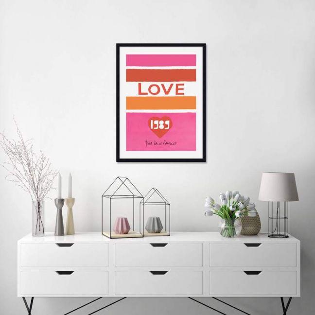 Yves Saint Laurent Love 1989   Unframed Art Print