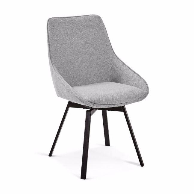 Miraculous Zaki Swivel Dining Chair Light Grey Clu Living Ncnpc Chair Design For Home Ncnpcorg