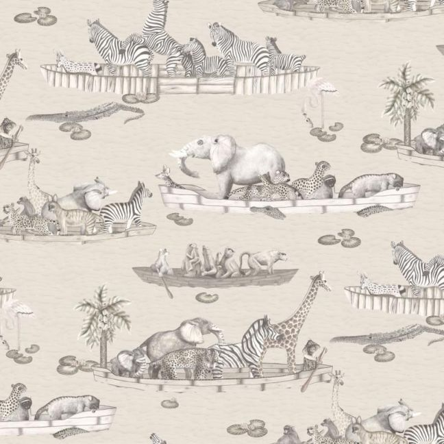 Zambezi Animals Wallpaper - Grey
