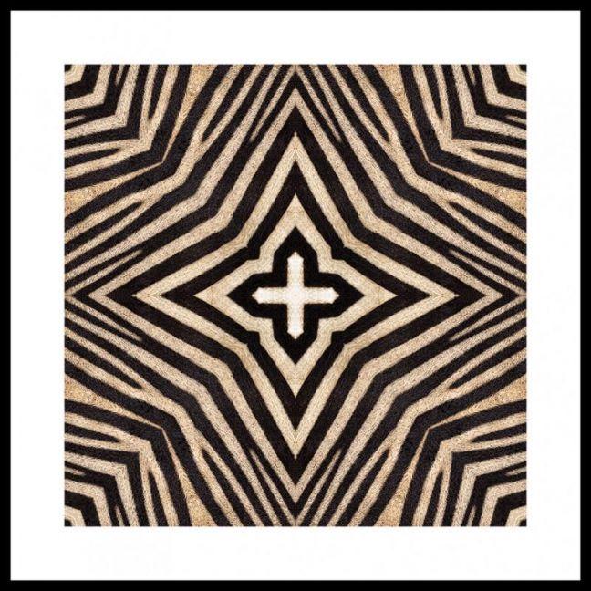 Zebra #4 | Framed Art Print | 85x85cm | by Artscope