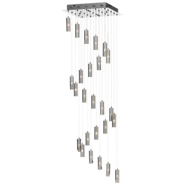 Zenon 25 Light Pendant in Chrome with Crystal   by Beacon Lighting