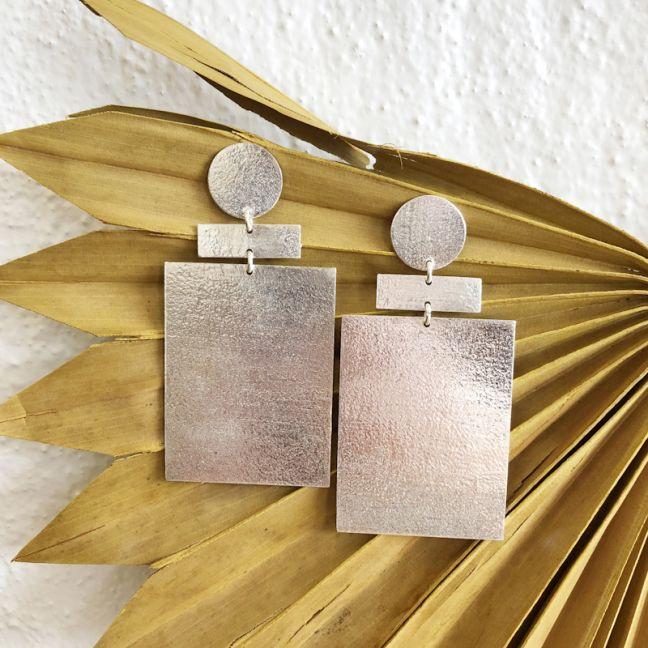 Zev Earrings Silver